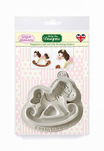 Katy Sue Designs Rocking Horse Stampo in silicone a dondolo per decorazione di torte, artigianato, cupcakes, zucchero filato, caramelle, carte e argilla, adatto per alimenti, prodotto nel Regno Unito