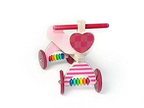 Rutscher, rosa 400 x 190 x 340 NEU Sitzroller Rutscherauto Holz