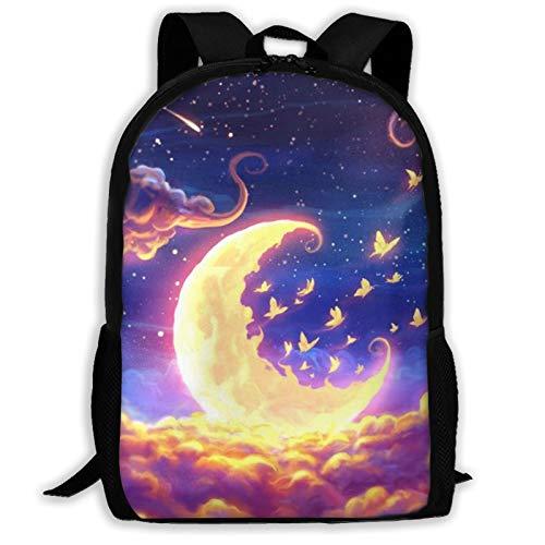 Moon Fantasy - Mochila de viaje para portátil con capacidad ligera para papelería, para niñas, niños, escuela, mujeres, hombres, oficina