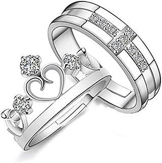 خاتم فتح مجوهرات الرجال والنساء النسخة الكورية من تاج ريترو بسيط