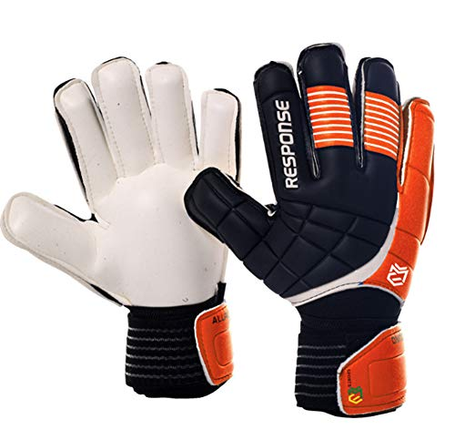 Latex Torwarthandschuhe Rollfinger L Orange