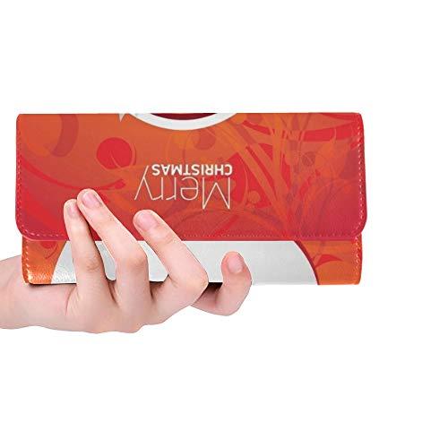 Einzigartige benutzerdefinierte Weihnachten Hipster Poster Party grußkarte Frauen Trifold Brieftasche Lange geldbörse kreditkarteninhaber Fall Handtasche