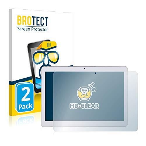 BROTECT Schutzfolie kompatibel mit Mediatek ZH960 (2 Stück) klare Displayschutz-Folie