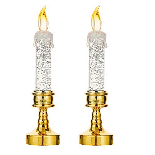 STOBOK 2 unids sin llama LED velas vintage fiesta decoracin simulacin vela creativo fiesta accesorios