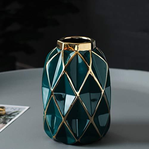 YSMLL Cerámica Creativa Jarrón geométrico Origami Flor Arreglo Hidropónico Ornamentos Adornos Decoración del hogar (Size : Small)