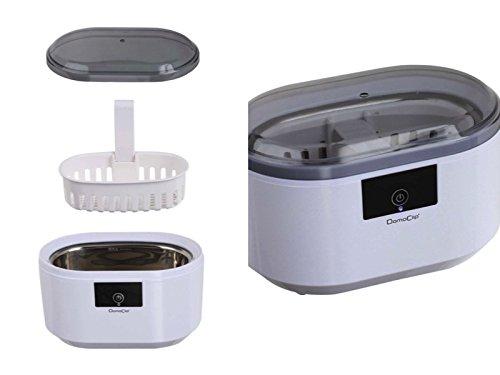 Ultraschallreinigungsgerät für Schmuck Brillen CDs Münzen Ultraschallreiniger Brillenreiniger (Zahnprothesen-Reiniger, Ultraschallbad, Schmuckreiniger, 600 ml Edelstahl-Tank)