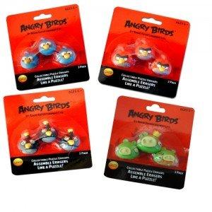 Set de 3 gomas-rompe cabeza Angry Birds (1 unidad) [Juguete]