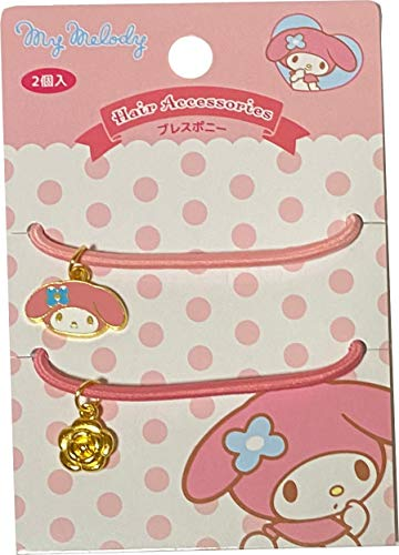 Sanrio My Melody Bracelet Hair Gum Hair ties Pony ring Rubber Accessories Barrette Light Pink Pink 2pcs Set