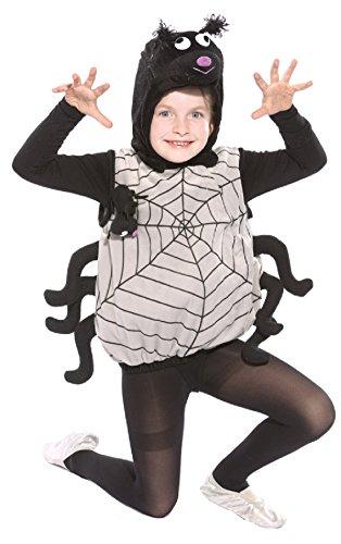 Oh2020-104-110 schwarz-grau Kinder Spinnen Weste Kostüm Gr.104-110