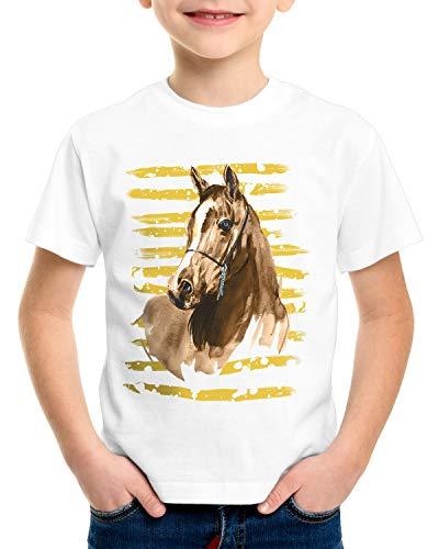 CottonCloud Vacaciones de Equitación Camiseta para Niños T-Shirt Caballos Granja halcón marrón