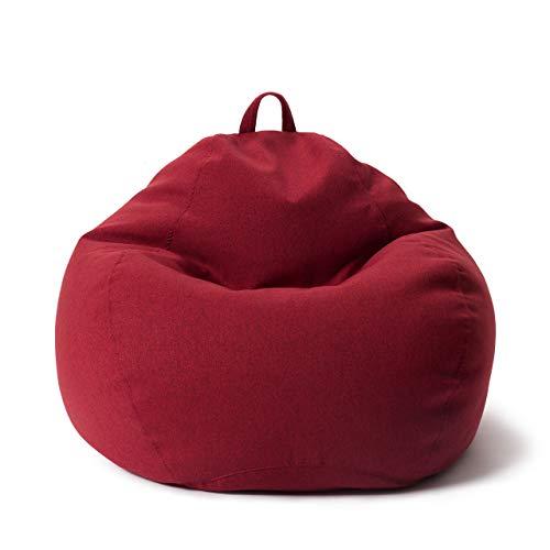 Lumaland Comfort Line XL Sitzsack Indoor - 90x110x50 cm - Bodenkissen, Bean Bag Chair - 250 L - EPS Perlen Füllung - Rot