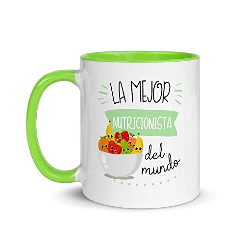 Kembilove. Tazas Desayuno Originales de Profesiones para Regalar a Trabajadores – Taza de Café de la Mejor Nutricionista del Mundo – Tazas con Frases Divertidas 100 Modelos de Profesiones