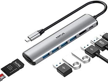 Xspus 8-in-1 Portable Aluminum USB C MacBook Pro Adapter