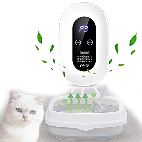 YYFGJCC Pet Mini Air Purifier,Ozone Air Freshener Sterilizer,Ozone Ionizer Air Freshener,Portable Ozone Device for Pets,Cars,Baths,Cat Litter Box,Fragrance-free Deodorant