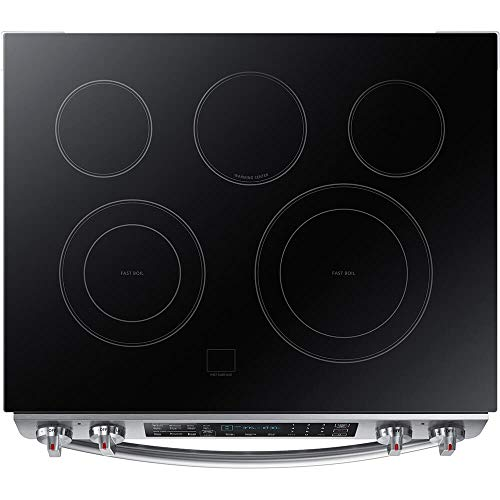 """Samsung Appliance NE58K9430SS 30"""" Slide-in Electric Range with Smoothtop Cooktop, 5.8 cu. ft. Primary Oven Capacity, in Stainless Steel"""