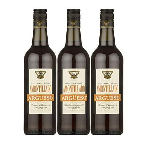 Vino Amontillado Argüeso de 75 cl - D.O. Jerez-Sherry - Bodegas Argüeso (Pack de 3 botellas)
