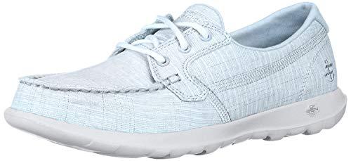 Skechers Women's GO Walk LITE-16423 Boat Shoe, Blue, 6.5 M US