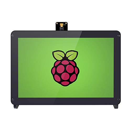 SunFounder 10.1'' Zoll IPS Monitor-Raspberry Pi 10.1 Inch HDMI IPS LCD Monitor Display High Resolution 1280×800 Camera Holder Stand for Raspberry Pi 4B 3B+ 3 Model B, 2B, and 1 Model B+ (MEHRWEG)