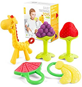 SOFT AND FLEXIBLE TEETHING TREATS - Unlike other teething toys that are stiff and hard, the Sperric teethers are carefully made with the perfect texture for chewing and soothing your baby gums. Help your little get through those rough periods with be...