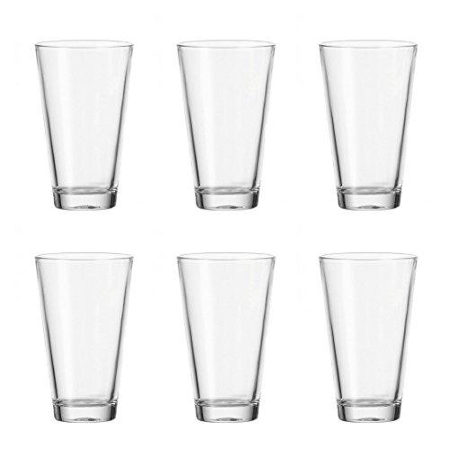 Leonardo Ciao Trink-Gläser, spülmaschinenfeste Wasser-Gläser, Trink-Becher aus Glas im modernen Stil, 6er Set, 300 ml, 061704