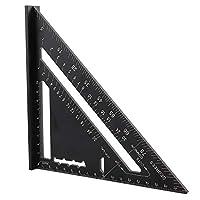 明確で正確なスケール三角形の角度測定三角形の角度分度器、強力な鋳造アルミニウム分度器測定ツール三角形の角度測定、三角形の分度器、愛好家のための住宅建築業者のための屋根の三角形の分度器(Mitrik)