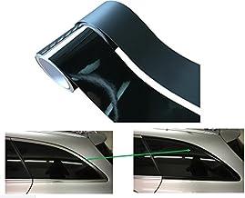 Meyerle Leistenfolie² zelfklevende folie, 10 meter, om chroomlijsten zelf zwart te maken, zonder gebruik van autolakken, 1...