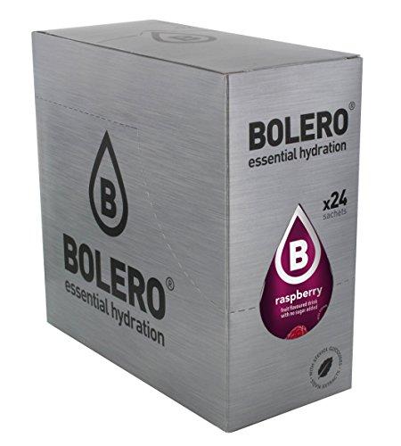Bolero Bebida Instantánea sin Azúcar, Sabor Frambuesa - Paquete de 24 x 9 gr - Total: 216 gr