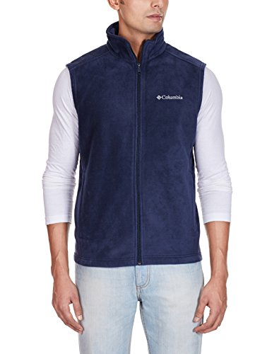Columbia Men's Cathedral Peak II Fleece Vest, Collegiate Navy, Medium