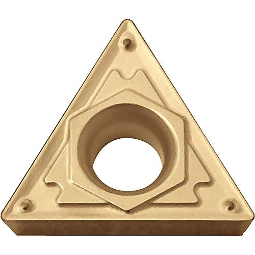 Kyocera TCMT 3252HQ CA5515 Grade CVD Carbide, 60 Degree Triangle, Positive Rake Angle, Neutral Turning Insert for Light Interruption and Finishing-Medium in Steel (10 pcs)