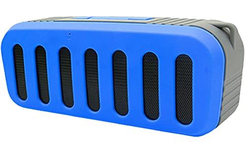 AERJMA Altavoz Bluetooth inalámbrico para deportes al aire libre tarjeta portátil pequeño audio, sonido estéreo fuerte, graves ricos, tiempo de reproducción de 5 horas, micrófono integrado azul