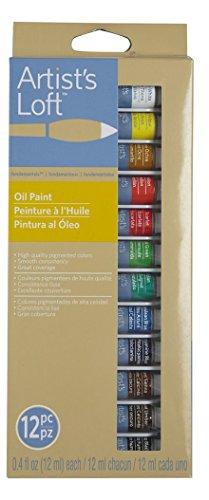 Artist's Loft Fundamentals Oil Paint Set, 12 Count