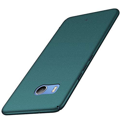 HTC U11 Case Colorful Series Ultra-Thin Anti-Drop Premium Material Slim Full Protection Cover for HTC U 11 Ocean (Gravel Green)