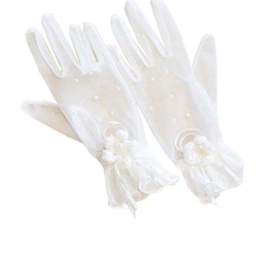 Gants de dentelle de cristaux de femmes de mariée pour l'accessoire de mariées de partie de mariage