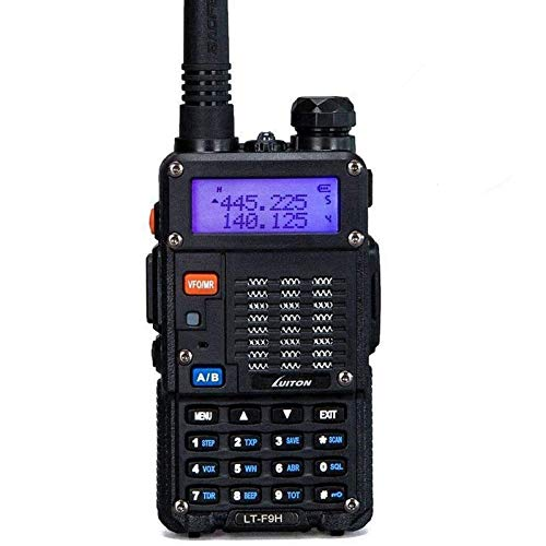 High Power Walkie Talkies Dual Band Two-Way Radio LT-F9H(136-174MHz VHF & 400-480MHz UHF) Includes Full Kit with Large Battery by Luiton