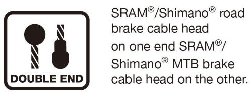 Jagwire - Universal Sport DIY Bike Cable Kit | for Road or MTN Brakes | SRAM and Shimano Compatible, Double Ended Brake Cables (Road and Mountain), Slick Stainless Cable, Housing Included