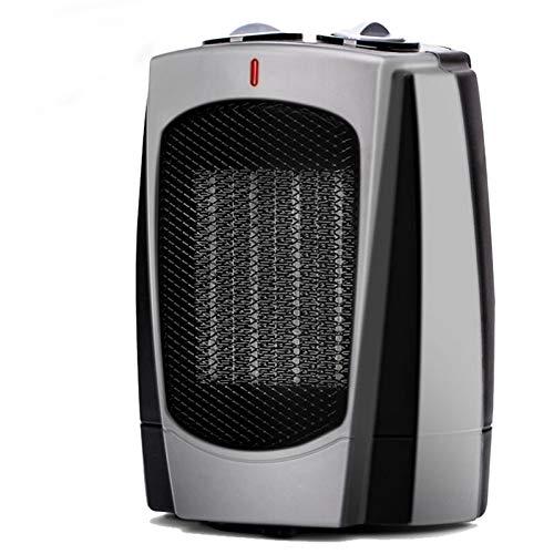 Calentador de espacios, 1000W / 1800W portátil eléctrico calentador de sitio con termostato ajustable, de vuelco y protección contra sobrecalentamiento, Zona for la sala de escritorio de oficina inter