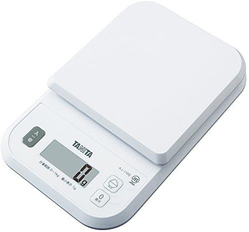 タニタ クッキングスケール キッチン はかり 料理 デジタル 1kg 1g単位 ホワイト KJ-110S WH ごはんのカロリーがはかれる