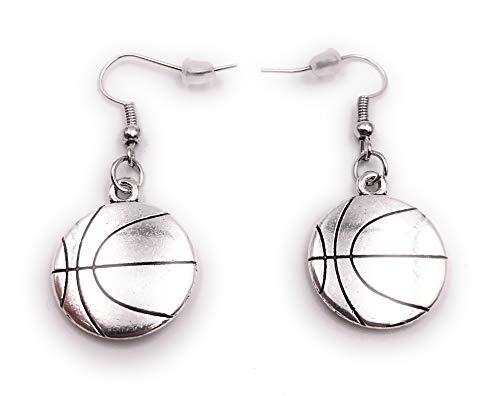 Onwomania Ohrringe Paar Basketball Sport Game Ohrring aus Metall Ohrschmuck