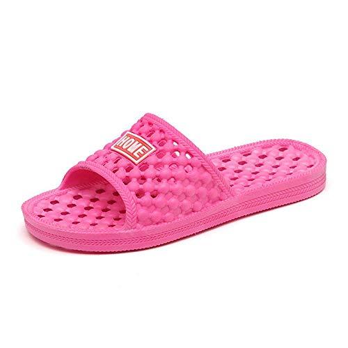 LIANGANAN Escurrir rápida Baño Mula,Zapatillas de baño Antideslizantes,Zapatillas de Masaje Huecos for los Hombres y Las Mujeres Red_41-Rosa,desagüe del baño rápida Mula zhuang94