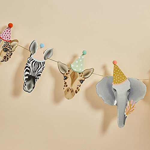 Animal Party Bunting 2m Childrens Party Decorations, Kids Bedroom Decorations, Birthday Decorations, Hanging Decoration 2m