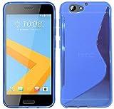 ENERGMiX S-Line TPU SchutzHülle kompatibel mit HTC ONE A9S Silikon Hülle Etui Hülle Cover Silikontasche Silikonschale in Blau