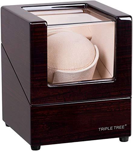 TRIPLE TREE ワインディングマシーン ウォッチワインダー 腕時計自動巻き器 静音設計(1本巻き上げ)