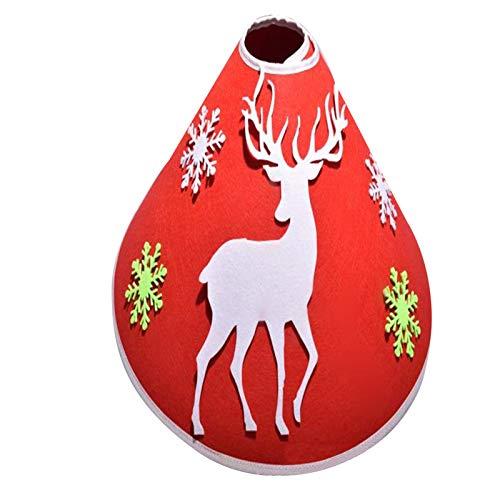 Merry Christmas Xmas Tree Skirt DIY Tree Skirt Decorative Floor Gift Mat Felt Blanket Snowflake Elk Christmas Tree Dress Craft Novelty Christmas Party Ornaments Gift Home Decor