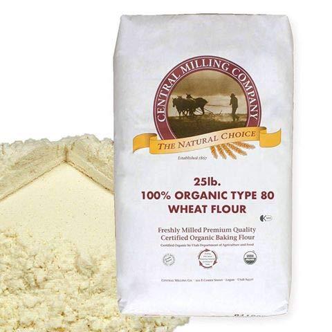 100% Organic Type 80 Wheat Flour - 25 lbs