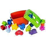 FancyBaby 2 en 1 Juego de 10 dados de juguete con 6 juguetes para la bañera para bebés