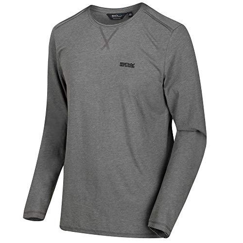 Regatta Herren Karter Coolweave Cotton Long Sleeve Tee Jersey T-Shirts/Polo-Hemden/Westen, Briar, Größe S