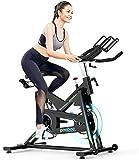 LKK-KK Bicicleta plegable Ejercicio compacto plegable bicicleta estacionaria control magnético de resistencia extra grande y ajustable asiento perfecto Inicio Ejercicio