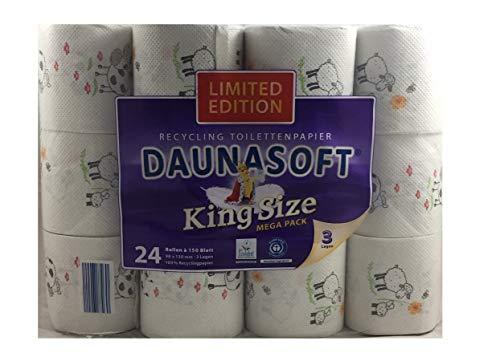 KUH & SCHAF LIMITED EDITION DAUNASOFT Toilettenpapier 24 Rollen a 150 Blatt MEGA PACK GESCHENKIDEE