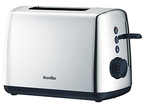 Breville VKJ953 Vista Polished Stainless Steel Jug Kettle, 1.7 L, Silver and VTT548 2-Slice Toaster, Silver Bundle