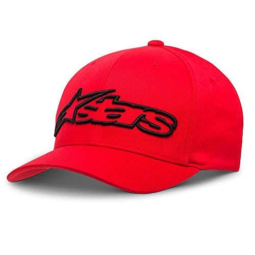 Alpinestars Blaze Flexfit Hat Gorra de béisbol, Negro Rojo, LXL para Hombre